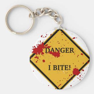 DANGER: I BITE! KEYCHAIN
