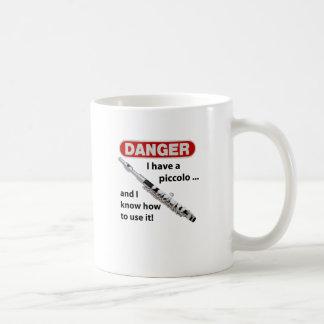 DANGER! I have a piccolo ... Classic White Coffee Mug