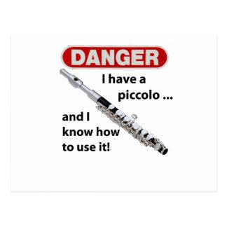 DANGER! I have a piccolo ... Post Card