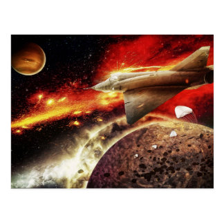 Danger In Space - A Galaxy Scape Postcard