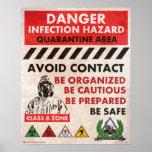 Danger! Infection Hazard Area Posters
