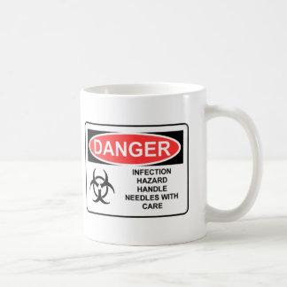 DANGER INFECTION HAZARD COFFEE MUG