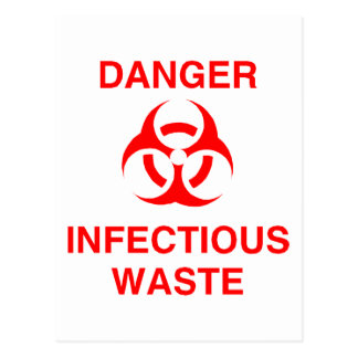 Danger Infectious Waste Post Card