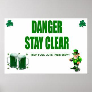 Danger! IRISH FOLK THEIR BREW Poster