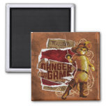 Danger Is My Game 2 2 Inch Square Magnet