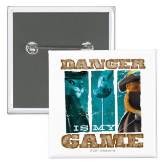 Danger Is My Game 2 Inch Square Button