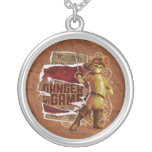 Danger Is My Game 2 Round Pendant Necklace