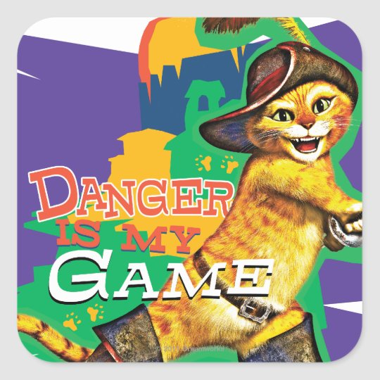 Danger Is My Game Square Sticker