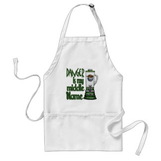 Danger Is My Middle Name Adult Apron