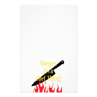 Danger, it's a chef thing stationery