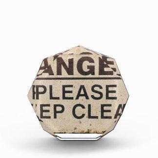 Danger Keep Clear Sign Award