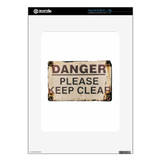 Danger Keep Clear Sign Decals For The iPad