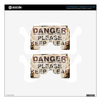 Danger Keep Clear Sign PS3 Controller Decal