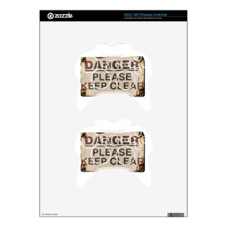 Danger Keep Clear Sign Xbox 360 Controller Skin