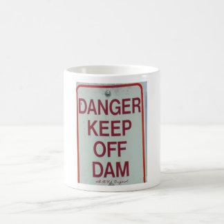 Danger Keep Off Dam Mug