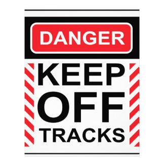 Danger Keep off tracks sign vector Letterhead