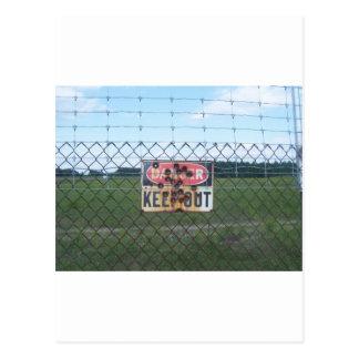 Danger Keep Out sign Postcard