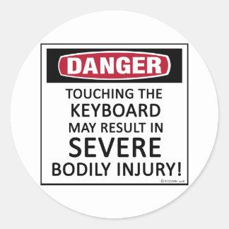 Danger Keyboard Sticker