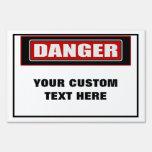 Danger Large Custom Yard Sign
