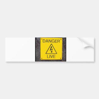 Danger Live Bumper Sticker