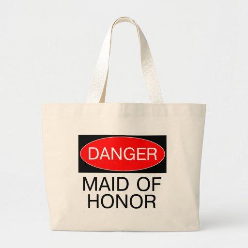 Danger maid of honor funny wedding t shirt mug large for Jumbo t shirt bags
