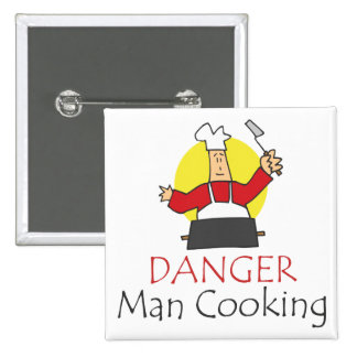 Danger Man Cooking 2 Inch Square Button