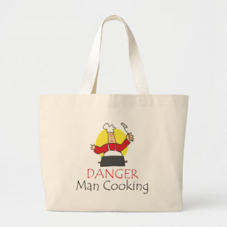 Danger Man Cooking Canvas Bags