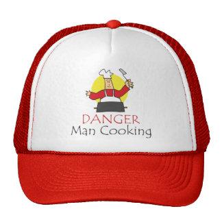 Danger Man Cooking Trucker Hat