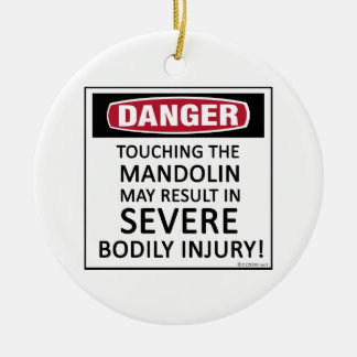 Danger Mandolin Ceramic Ornament