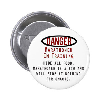 Danger Marathoner Pinback Button