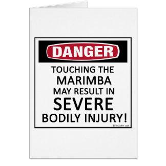Danger Marimba Card