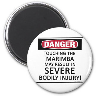 Danger Marimba Fridge Magnets