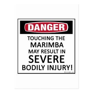 Danger Marimba Postcard