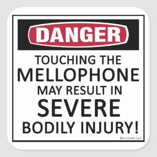 Danger Mellophone Square Sticker