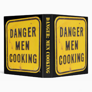Danger Men Cooking Cookbook Binder