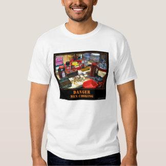 Danger! Men Cooking! Tee Shirts