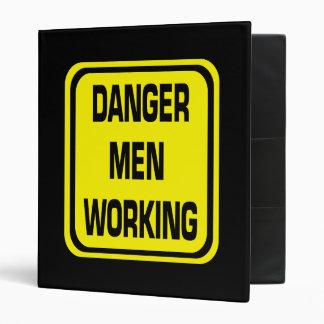 Danger Men Working Binder