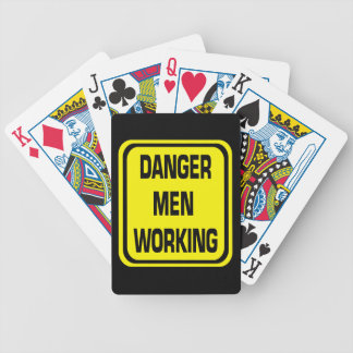 Danger Men Working Playing Cards