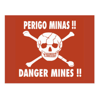 Danger Mines Sign, Angola Post Cards