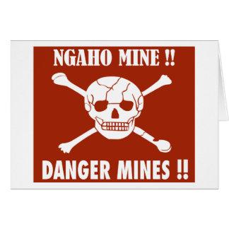Danger Mines Sign, Burundi Card