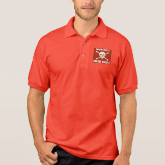 Danger Mines Sign, Burundi Polo Shirt
