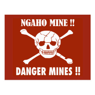 Danger Mines Sign, Burundi Postcard