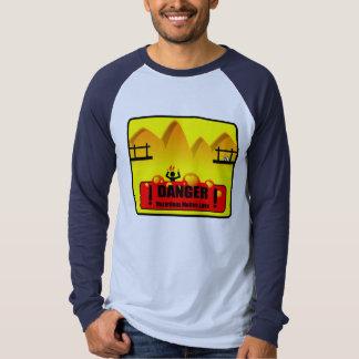 Danger Molten Lava - Long Sleeve Raglan T-Shirt