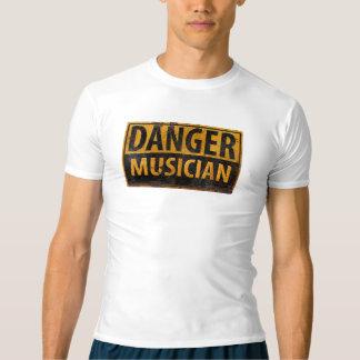 DANGER MUSICIAN Distressed Metal Rust Sign Shirt