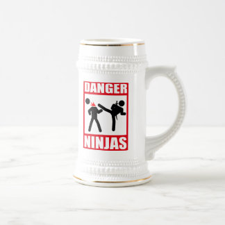 Danger Ninjas 18 Oz Beer Stein