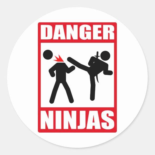 Danger Ninjas Classic Round Sticker