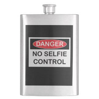 Danger no selfie control funny flask