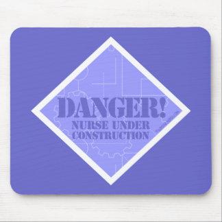 Danger! Nurse under Construction Mouse Pad
