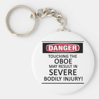 Danger Oboe Key Chain