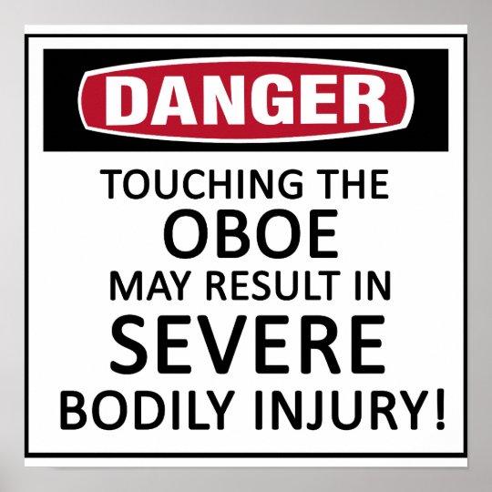 Danger Oboe Poster
